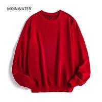 Mulheres Moinwater Casual Suéter Senhora New Streetwear Hoodies Feminino Terry Branco Black Hoodie Tops Outerwear MH2002 200930