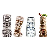 Tiki Mugcocktail أكواب هاواي تيكي أكواب كوكتيل كأس البيرة المشروبات القدح النبيذ القدح الحرف السيراميك شرب بار ل مي تاي لكمة