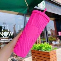 Starbucks Çivili Tumblers 710ml Plastik Kahve Kupa Parlak Elmas Yıldızlı Saman Kupası Durian Cups Hediye Ürünü