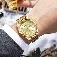 Designer luxury brand watches Men's Business Fashion Rhinestone Luminous Quartz Chinese and English Double Calendar Steel Band Men es