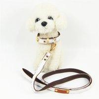 Досуг Собака След Кулон Ошейники Буквы Красочные Поводки Дизайнер проверены Кожаный воротник для ежедневных Pet Products