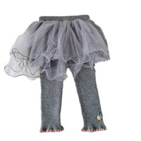 Girls Leggings Lace Baby Skirts Pants Kids Tights Toddler Clothes Infant Clothing Spring Autumn Cotton Newborn Trousers Wear 0-3T Tutu Princess B8652