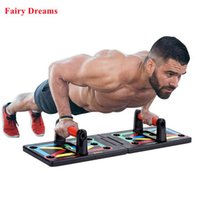 Push Up Board With Pull Rope Gym Home Fitness Equipment Multi-Function Foldable Full Body Training Work Out X0524