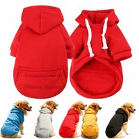 5 Color Wholesale Dogs Hoodie Sublimation Blank Dog Apparel Winter Hoody Warm Coat Sweaters with Hat Pet Hoodies Pocket Hooded Clothes Costume for Large XXL A124