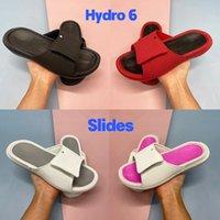 Mit Box Hydro 6 Slide Hausschuhe Männer Sandalen Schuhe Fitnessstudio Black White Universität Rot Metallic Gold Coole Grey Women Rutschen US 4-11