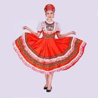 Robe de costume de danse russe classique élégant Robe de danse russe Européenne Princesse Stage Robes Stage Vêtements de performance