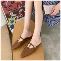 2021 SUOJIALUN Spring New Women Slippers Slip On Mules Shoes Low Heel Outdoor Casual Slides Sandal Round Toe Flip Flop C0313