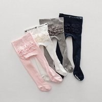 Säuglingsginggings Baby PP Pants Mädchen Lace Strumpfhosen Kinderkleidung Strumpfhosen Baumwolle Prinzessin niedlich B6336
