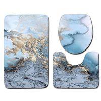 Alfombrillas de baño 3 unids cubierta de inodoro asiento antideslizante suave tapete de baño accesorios de baño alfombra de cocina haz una herramienta de decoración del hogar