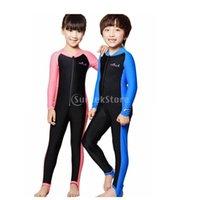 Pool & Accessories Kids Boys Girls Full Body Swimwear Long Sleeve Sun Protection 50+ UV Swimming Diving Surfing Freedive Snorkeling Costume