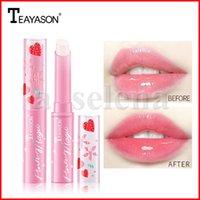 Teayason 딸기 모이스처 라이저 립 밤 온도 변화 색상 오래 지속되는 보습 립스틱 오래 지속되는 보습 립 메이크업