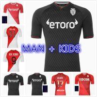 Como Monaco Futebol Jerseys Maillots De Pé 21 22 Keita Balde Ben Yedder Gelson 2021 2022 Fabreags Golovin Homens Crianças Patrocinador De Futebol