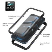 Build in PET Screen Protector Shockproof Cases For Iphone 12 Pro Max Mini 11 8 7 6 SE2 2in1 360 Full Hybrid Layer Hard PC TPU Non-slip Bumper Front Back Mobile Phone Covers