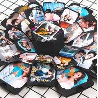 Explosionsbox Schöne Erinnerung Jubiläums-Scrapbook DIY-Fotoalbum Valentines Tag Geburtstag Hochzeits-Geschenkbox JK2101XB