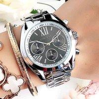 Designer Luxe Merk Horloges Io Feminino Genève S Roestvrijstalen zilveren Case Dames Pols Waterbestendig Quartz ES voor vrouwen