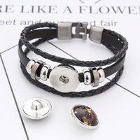 10 pçs / lote misto de vento de vento padrão 18mm vidro encaixoteira botão de jóias facetada vidro fit ajuste brinquês bracelete jóias jóias jóias