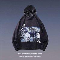 TKPA Sonbahar ve Kış erkek Moda Marka Batı Kıyısı Gangster Hip Hop Spor Hoodie