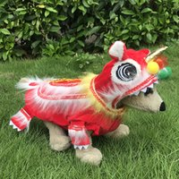 Dog Clothes Lion Dance Pet Costume Teddy Autumn and Winter Funny Festive Chinese New Year Pet Clothes