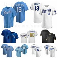 13 Salvador Perez Jersey Baseball 16 Andrew Benintendi 41 Carlos Santana 7 Bobby Witt Jr 15 Whit Merrifield 12 Jorge Soler Cool Base