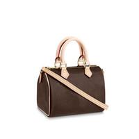 Высокое качество роскоши дизайнеры женские сумки кошельки женские моды кроссбирива плеча мини Nano Speedy Bag M61252 с пылезащитной коробкой