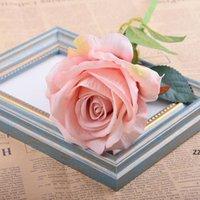 Décorations de mariage Touche réel Matériau artificiel Fleurs artificielles Bouquet de rose Maison Faux Soie Single Single Fleurs Floral HWB7566