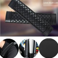 Safety Belts & Accessories Car Leather Universal Fashion Design Shoulder Padding For Seat Belt Cover Hardness Strap Automobiles Interior