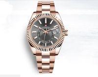 42 мм Sky-обитатель небольшой циферблат дата мужские часы дизайнерские автоматические часы розовые часы календарь набор подарок из нержавеющей стали Montre de luxurys Origin