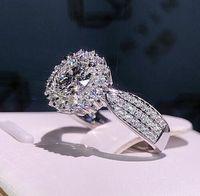 Bester Verkauf neuer eingelegter quadratischer prinzessin ring kreative geometrie dame verlobungsring größe 5-12 freies verschiffen 030901