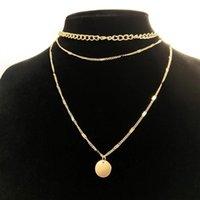 Collares colgantes Collar vintage en cuello Cadena de oro Joyería para mujer Accesorios en capas para niñas Ropa Estética Regalos Moda