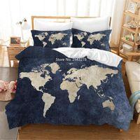 Bedding Sets Home Textile Series Design Simple Black Beige Duvet Bed Cover Pillowcase Set Adult Teen Bedroom Decoration