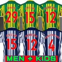 20 21 West Bromwich Albion Home Soccer Jersey 2020 2021 كرة القدم قميص كيت Camiseta دي Fútbol West Brom الرجال Kids Robson-Kanu Townsend