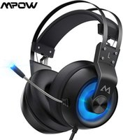 MPOW EG3 Pro Wired Headphone Gaming Headset 3.5mm USB-hörlurar med mikrofon på linjekontroll för dator PC-spelare