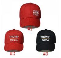 Donald Trump 2024 Baseball Caps Bomull Solskyddsmedel 2024 USA President Val Support Cap Trump Baseball hattar Party hattar