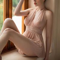 Sexy Unterwäsche Kleine Prinzessin Nachtkleider durch Mesh Spitze Backless Frauen Schlaf Tragen Kurzkleid Junges Mädchen Neue Dessous