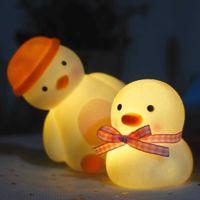 New Toys LED enamel small night light duck cartoon INS creative decorations market luminous vxz456486