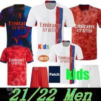 21 22 Maillot de Foot Olympique Lyonnais Lione Soccer Jersey 2021 2022 Camicia calcio Traore Auouar Memphis Men + Bambini