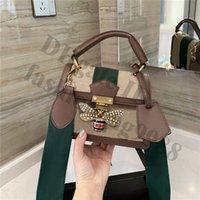 النساء العلامة التجارية جلدية حقيقية crossbody الكتف حقائب اليد الفاخرة مصمم رسالة مربع السيدات جانب واحد حقائب اليد الصغيرة أزياء سيدة أعلى جودة حساسة 2021 حقيبة يد