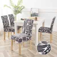 Chair Covers 1 2 4 6PCS Flower Printed Dining Cover Spandex Wedding Party Protector Removable Slipcover Seat