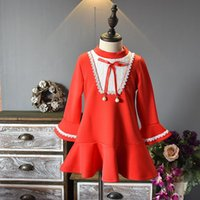 Girl's Dresses Princess Dress For Lttle Girl 2021 Spring Costumes Girls Baby Flare Sleeve Bow Tie Party And Wedding