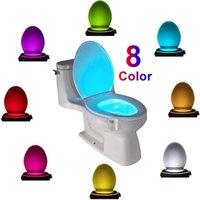 LED Toilettensitz Nachtlicht Induktion Bewegungssensor WC 8 Farben Variable Lampe Hintergrundbeleuchtung für Toiletten verwendet