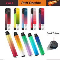 PUFF Double 2 in 1 Disposable Vape Pod Device Dual Cartridges 2000 Puffs 900mah Battery Prefilled Ecig Tobacco Accessories Vaporizer