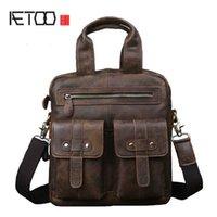 leather Original scrub HBP AETOO men's vertical handbag shoulder Messenger bag retro handmade leather computer bag