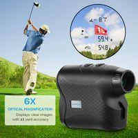 Golf Training Aids Lixada 5-700m 6x25mm Gamma laser Finder RangeFinder Caccia Telescopio monoculare digitale