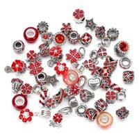 50pcs European Bead Safety Chain Bead Charm European Bead Fit for Pandora Bracelets Mix color