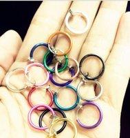 Fake Nose Hoop Ring Ear Septum Lip Navel Earrings Body Non Piercing Black Jewelry Drop Shipping ps2865