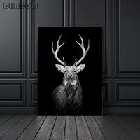 Toile peinture Animal Mur Art Lion Éléphant Deer Zèbre Affiches et impressions Photos murales Pour Salon Décoration de la salle de séjour Décor de la maison CCD5009