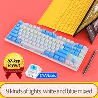 K400Metal 2021Mechanical Touch Game Keyboard Cable Desktop Laptop External USB