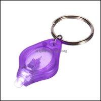 Flashlights And Cam Hiking Sports & Outdoorsflashlights Torches 395Nm Purple Uv Led Mini Keychain Light Torch Black Lamp Id Currency Passpor
