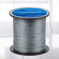 Linha de pesca trançada de pesca de trança 300m linha super forte cor material de material (cinza, 0,4)