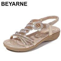 BEYARNE Fashion casual sandals women flat wedges party diamonds gladiator summer shoes girls low heels Sandalias Mujer Feminina 210610